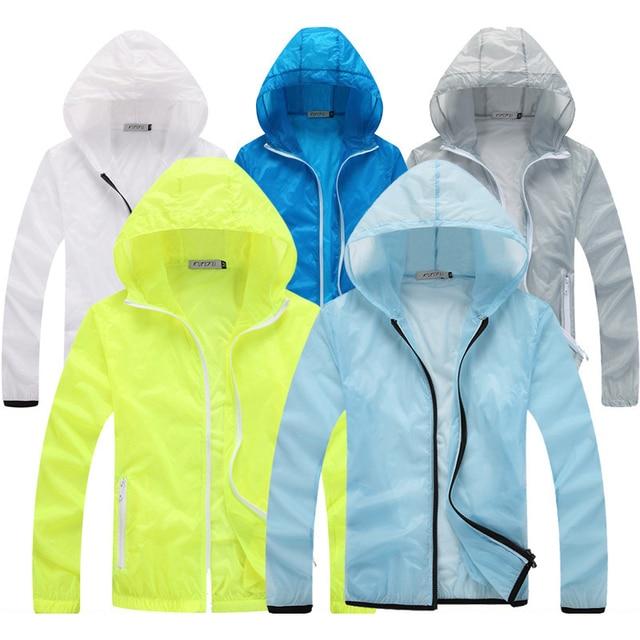 Plus Size Sun-protective Clothing Stylish Hoodies Unisex color: Blue