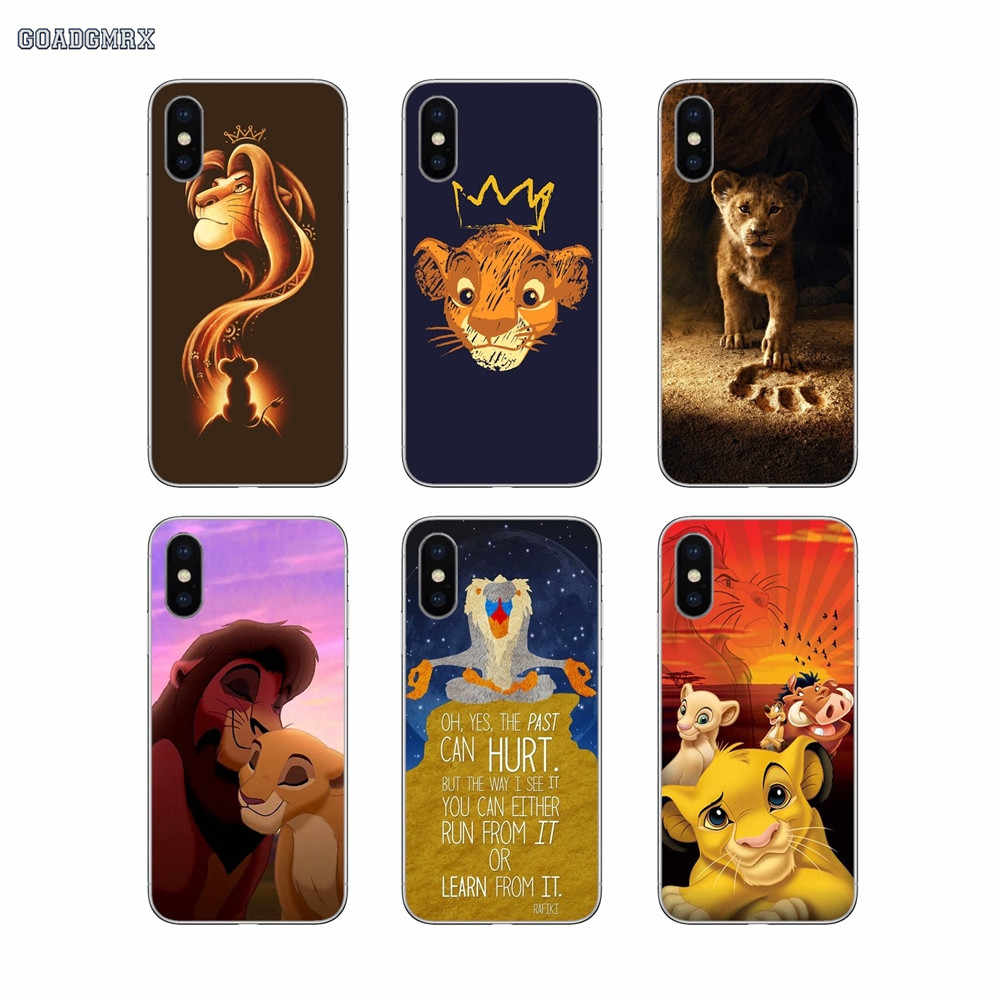 Untuk Samsung Galaxy S2 S3 S4 S5 Mini S6 S7 Edge S8 S9 S10 Lite J4 J6 Plus 2018 Eropa the Lion King Simba Mobile Phone Case Cover