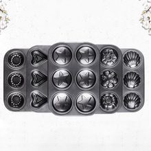 6 Cavity Star Heart Cupcake Mold Cake Muffin Biscuit Pan Carbon Steel Kitchen Baking Tool Non Stick Bakeware 6 12 holes square cupcake pan muffin tray cupcake mold muffin pan carbon steel baking pan non stick bakeware biscuit pan zxh