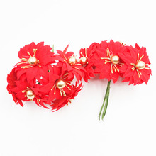 100 pcs Christmas artificial flower fake Bouquet golden fruit For Home Wedding Decoration Scrapbook DIY Tree