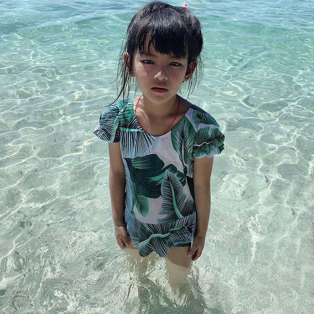 Children Beach Bathing Suit Girls Korean-style Dress-Big Boy Tour Bathing Suit Princess Students Swimwear Manufacturers Wholesal