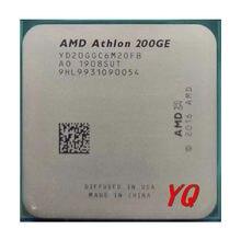 AMD Athlon 200GE X2 200GE 3.2GHz dwurdzeniowy czterordzeniowy procesor CPU YD200GC6M2OFB YD20GGC6M20FB gniazdo AM4