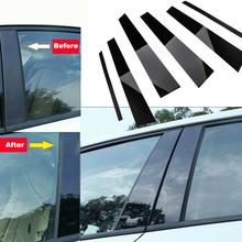 Für BMW 3 Serie E90 2005 2012 B säulen Aufkleber 6PCS ABS Auto Fenster B Säulen aufkleber Trim Protable Hohe Qualität