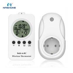 Nashone lcd digital termostato programável para aquecimento por piso radiante temperatura controlada built-in rc termostato sem fio 230 v