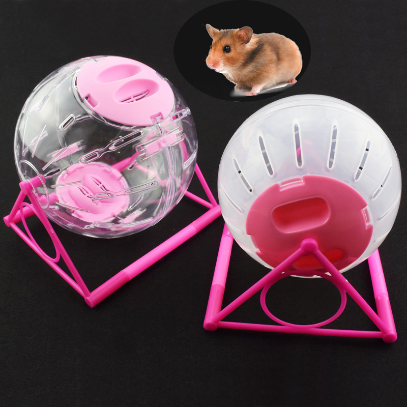 Pet Hamster Jogging Ball Toy Plastic Pet Rodent Mice Hamster Gerbil Rat Exercise Balls Play Toys Sports Runner Cage Disc Toy