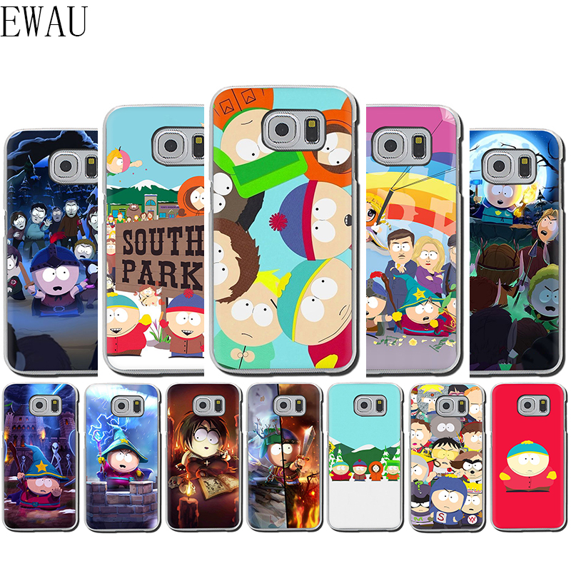 EWAU <font><b>Anime</b></font> Southpark Soft Silicone Mattle <font><b>phone</b></font> <font><b>case</b></font> for <font><b>Samsung</b></font> S7 Edge S8 <font><b>S9</b></font> S10e Note 8 9 10 <font><b>plus</b></font> M10 20 30 40 image
