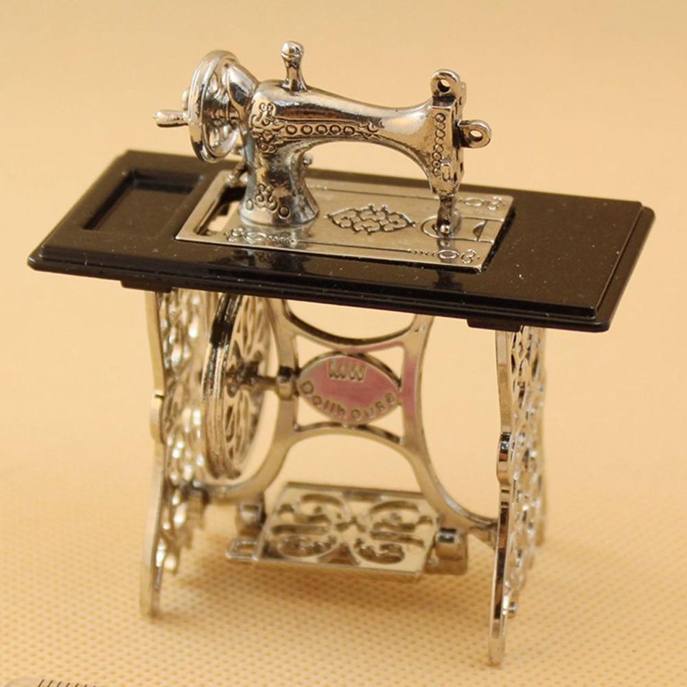 Аксессуары ручной работы винтажный Кукольный дом домашняя модель украшения игрушечная швейная машина ткань мини Ремесла подарок мебель Металл