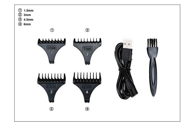 cone lâmina NG-2023 elétrica máquina cortar cabelo com display lcd