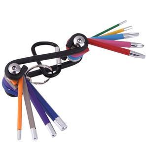 9 sztuk uniwersalny sześciokątny klucz imbusowy zestaw narzędzi imbus matowy chrom koniec klucz zestaw śrubokrętów zestaw narzędzi