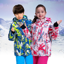 Girls Waterproof Ski Suit Children Jacket and Pants Warmth Thickened Winter Clothes