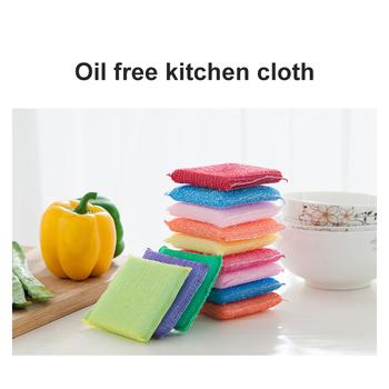 Sprzątanie kuchni nieprzywierająca ściereczka do czyszczenia oleju ściereczki do mycia do mycia ręcznik szczotka miska gąbka gąbka do mycia szczotka tanie i dobre opinie CN (pochodzenie) dishwashing sponge Ekologiczne Na stanie KİTCHEN Melamine Eraser Sponge Sponge Kitchen Cleaning Sponges