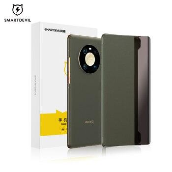 Флип-чехол SmartDevil, кожаный чехол для телефона Huawei Mate 40 Pro +, Мягкий защитный чехол с текстурой личи и на ощупь