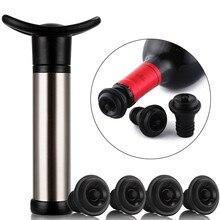 Construção de aço inoxidável durável hermético, selo à prova de vazamento fácil da bomba de ar 6/2/4 do vácuo do preservador do vinho rolhas da garrafa de vinho