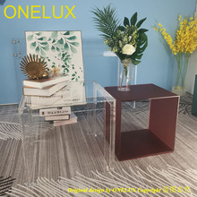 Set of Clear Acrylic coffee Table,Acrylic side/sofa/tea/corner tables,Colored Cube Tables,Magazine/book Cube Racks one lux black acrylic vanity tray table lucite side corner tables plexiglass living storage desk