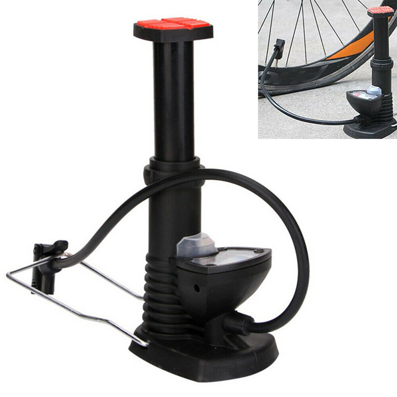 Ultra-light Mini Bicycle Foot Pump High Pressure Electric Motorcycle Pedal Air Tyre Inflator High Pressure Pump Cycling Inflator