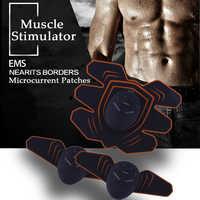 Elektrische Muscle Stimulator Bauch EMS Trainer Fett Brenner ABS Stimulieren Patch Fitness Körper Abnehmen Gürtel Massager Gewicht Verlust