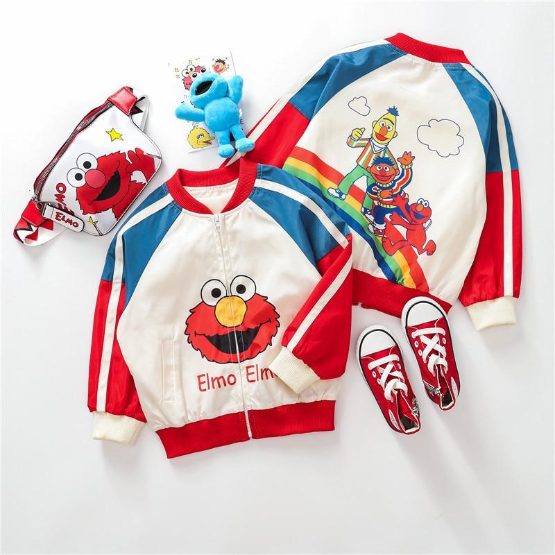 Autumn And Winter New Children's Cute Cartoon Jacket Baby Baseball Wear Fashion Jacket Children's Autumn Coat Outfit CT066