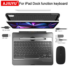 AJIUYU Smart Keyboard For iPad Air 4th 10.9 Pro 11 12.9 inch 2021 2020 Tablet HDMI Docking Hub Adapter Magnetic Magic Cover Case