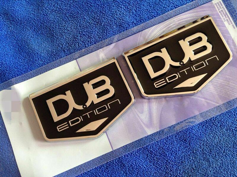 2x DUB Edition Автомобильный багажник заднее крыло значок с эмблемой Наклейка Универсальный