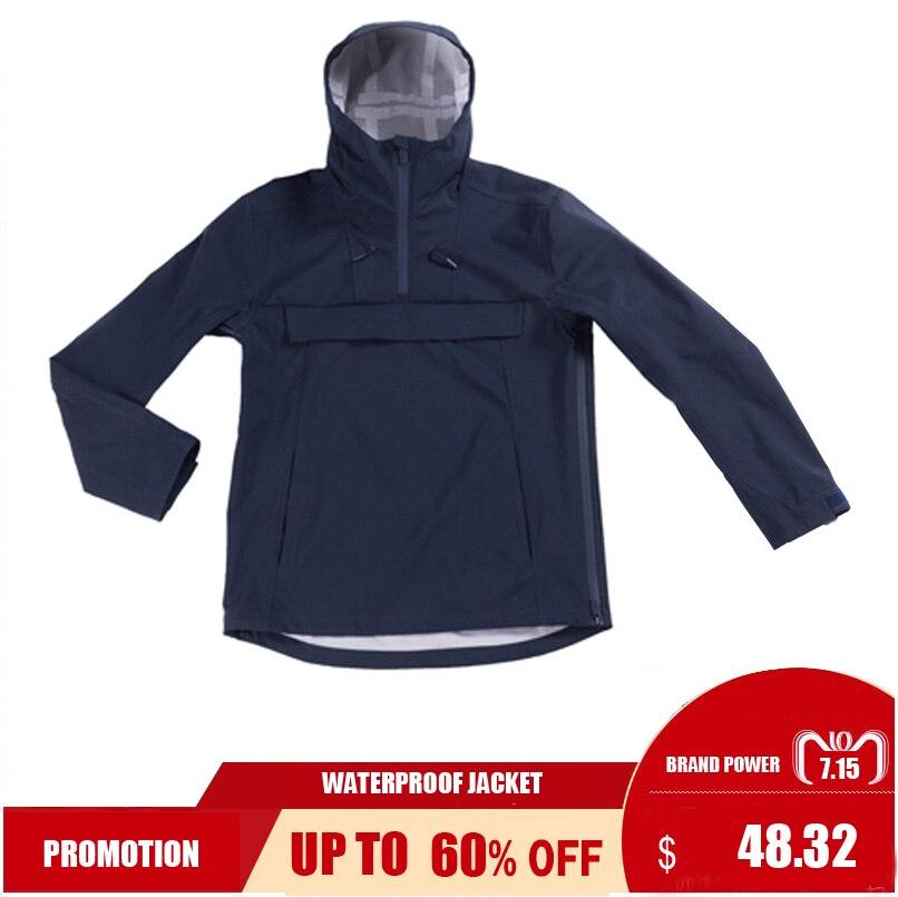 Унисекс водонепроницаемая куртка с капюшоном, легкая ветровка, дождевик, уличный плащ для езды на велосипеде, горных Походов, Кемпинга