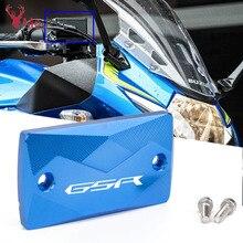 CNC aksesuarları motosiklet ön fren hidroliği rezervuar kapakları kapak Suzuki GSR750 GSR 750 2011 2012 2013 2014 2015 motosiklet