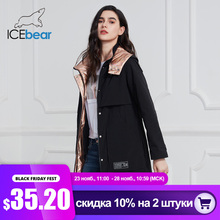 ICEbear Chaqueta larga para mujer, parka informal de moda, ropa de marca, GWC20727I, novedad de 2020