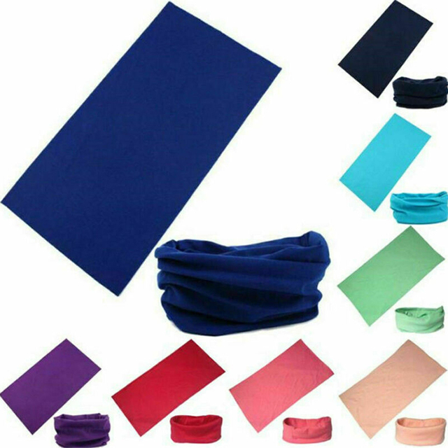 20 color Women Men Outdoor Sports Bandana Scarf Headwear Solid color Face Mask Riding Cycling Headscarf Tube Wristband Headband 2