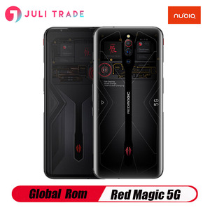 Global Rom Nubia Red Magic 5G Gaming Smart Phone12G 16 Гб ОЗУ 256 Гб ПЗУ Snapdragon 865 144 Гц 64 мп 4500 мАч 55 Вт Быстрая зарядка