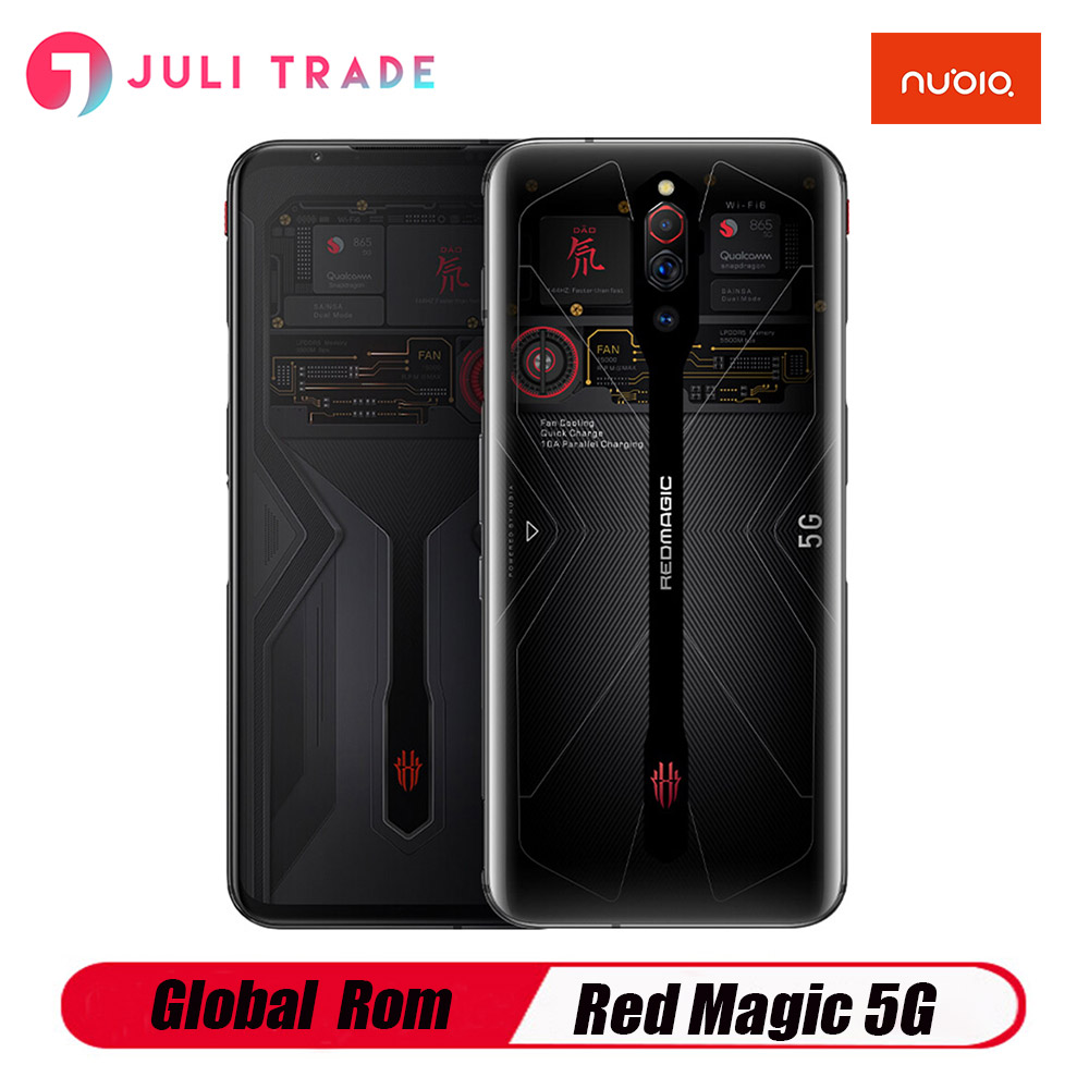 Globale Rom Nubia Rot Magie 5G Gaming Smart Phone12G 16G <font><b>RAM</b></font> 256GB ROM Snapdragon 865 144Hz 64MP 4500mah 55W SCHNELL Ladung image