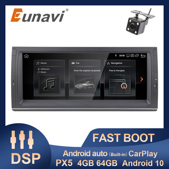 Eunavi 10.25 inch Android 10 Car Radio GPS Multimedia Player For BMW E53 E39 X5 Octa Core Autoradio Stereo DSP HD Screen 4G WIFI image