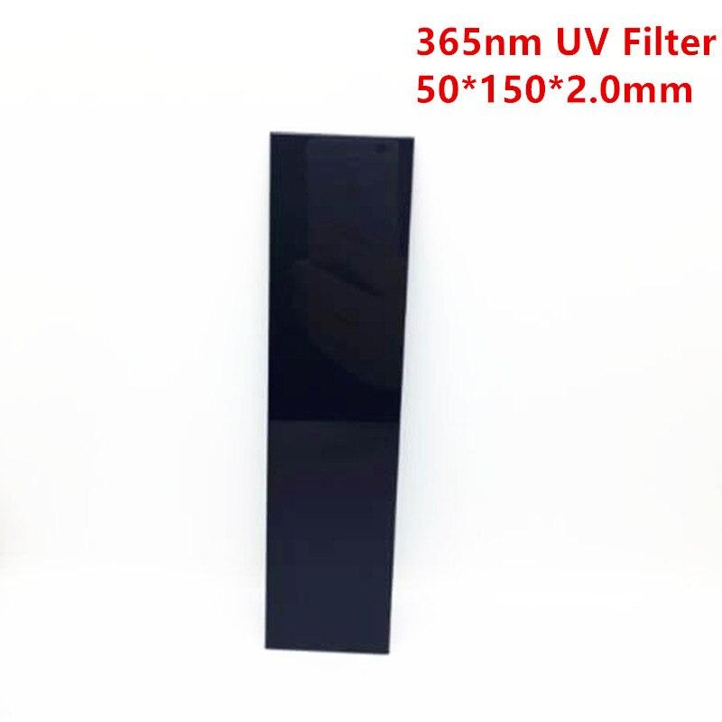 365nm ZWB2 150*50*2mm UG1 U-360 UV passe filtre transilluminateur Ultraviolet verre noir