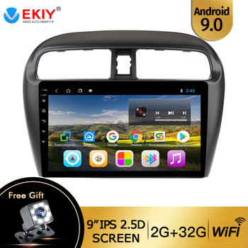 EKIY 9'' IPS Car Radio Android 9.0 Auto Stereo Multimedia For Mitsubishi mirage attrage 2012-2018 GPS Navi Navigation WiFi Car image
