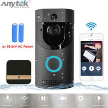 Anytek B30 WIFI Doorbell IP65 waterproof Smart video Door chime 720P wireless intercom FIR Alarm IR night vision IP camera