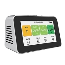Portable Digital CO2 Meter Air Monitor Handheld PM2.5 Carbon Dioxide Detector HCHO TVOC Temperature Sensor Air Quality Analyzer multifunction co2 meter carbon dioxide analyzer portable detector gas co2 detector tester air quality monitor analyzer