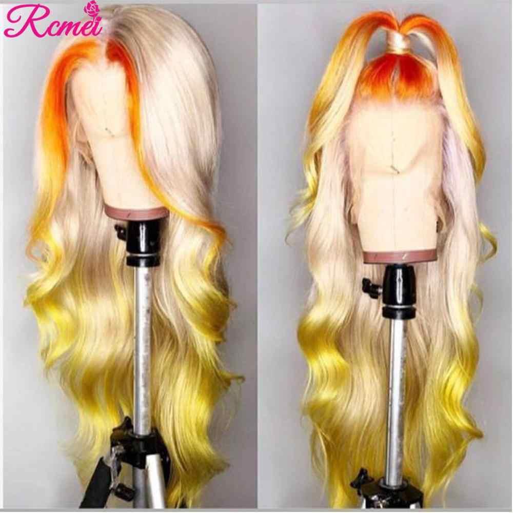 613 Blonde Bundels Met Frontale Sluiting Braziliaanse Body Weave Blonde Bundels Met Transparante 13X4 Frontale Remy 613 Haar