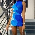 Simenual Sehen Durch Netz Geraffte Mini Kleider Für Frauen Ärmellose Sexy Hot Clubwear Partei Bodycon Kleid Mode Geburtstag Outfit