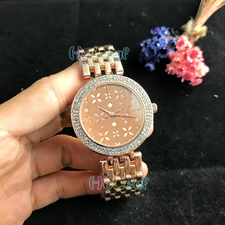 Luxury Fashion Dimond Women Watches Silver Gold Round Stainless Steel Band Quartz Watch Female Clock Black Montre Femme Relogio