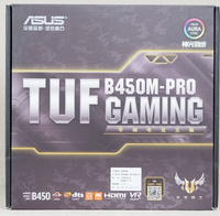 ASUS motherboard TUF B450M PRO GAMING mATX with RGB LED lighting ,support up to DDR4 3533MHz dual M.2 native USB 3.1