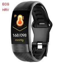 P11 ساعة ذكية 2020 HRV ECG معدل ضربات القلب ضغط الدم الذكية سوار اللياقة البدنية تعقب معصمه ساعة رياضية ل IOS شاومي هواوي