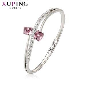 Xuping Newes женский браслет с квадратными кристаллами от Swarovski модные вечерние темпераментные подарок на день рождения S188.7-50015