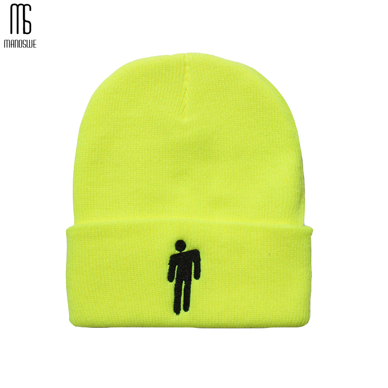 Winter Hat Balaclava Hats Knitted Solid Hip-hop   Skullies   Hats for Boys Hats for Boys Accessories Billie Eilish   Beanie   6 Color