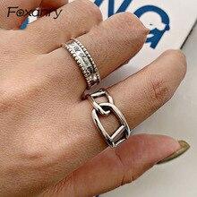 Foxanry, anillos de compromiso de Plata de Ley 925 Vintage para mujer, nuevos anillos de plata tailandeses, accesorios para fiestas, regalos de joyería
