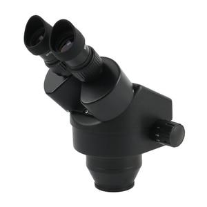 Image 3 - 3.5X 90X Continuous Zoom Binocular Stereo Microscope Focus Arm 76MM Head Holder LED Ring Illuminator Lamp For IPhone Repair