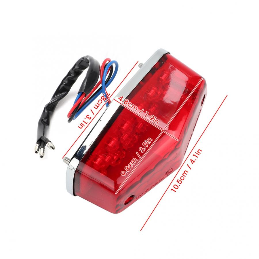 Motorcycle LED Taillight Parking Brake Stop Lamp Motorbike Accessory LED Taillight Fits for Yamaha Red Motorcycle LED Taillight