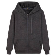 Autumn new men's cotton sweatshirt gym fitness fitness hoodie men's casual fashion slim hooded zipper coat jacket