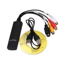 Adaptador de tarjeta de captura de vídeo y Audio USB 2,0, sintonizador de TV, convertidor de captura de vídeo para Win7/8/XP/Vista con Cable USB