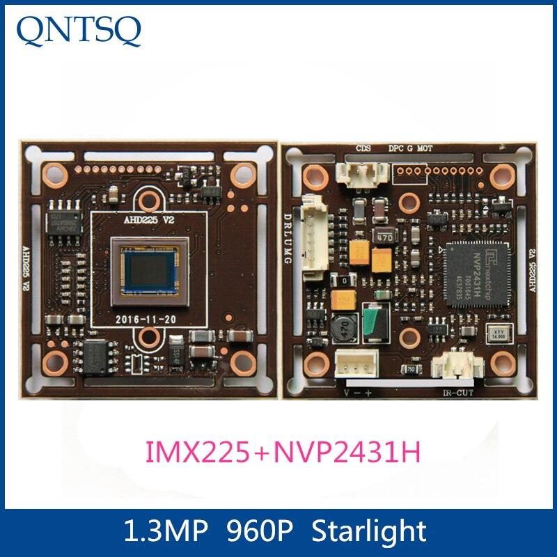 """960P 1.3MP SONY 1/3 """"IMX225 + NVP2431H CMOS de Starlight de alta definición AHD... placa de módulo de cámara CCTV analógica"""