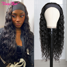 Scarf Wigs Human-Hair Water-Wave Klaiyi Women Natural-Black Brazilian for Glueless 150-%