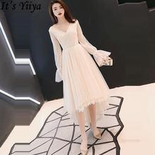 Коктейльное платье it's yiiya с v образным вырезом длинным