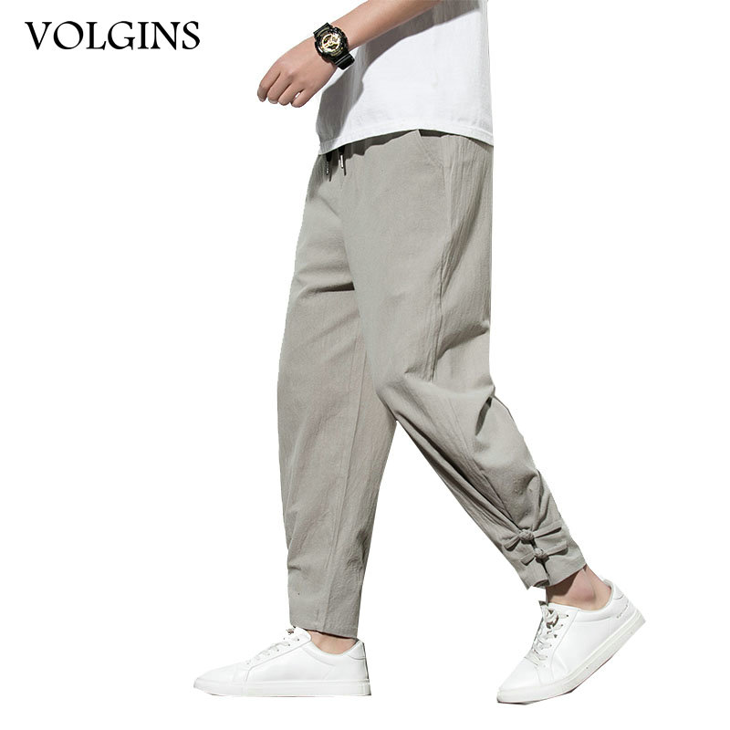 Streetwear Men's Joggers Trousers Chinese Style Casual Harem Pants Spring Autumn Solid Color Oversize Man Pants Plus Size 5XL